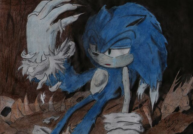 File:Sonic turning into a werehog with a tear streaking down.jpg
