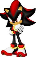 Shadow crosses his arms