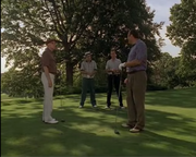 DiMeo crew at a golfing game