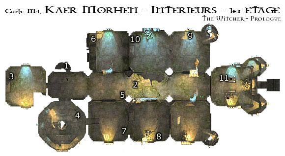 Map M4 - Intérieur de Kaer Morhen, 1er étage