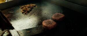 Morganian Stars on burger patties