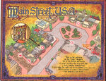Sorcerers of the Magic Kingdom Map - Main Street, USA