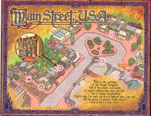 Sorcerers of the Magic Kingdom Map - Main Street, USA