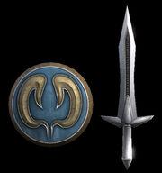 Omega Sword and Elk Shield