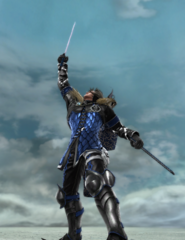 Riley holding Sword
