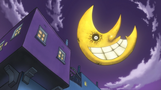 Soul Eater Episode 14 - Maka and Soul's apartment at night