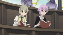 Soul Eater Episode 31 HD - Maka and Crona study in Crescent Moon 1
