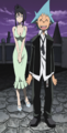 Soul Eater Episode 18 SD - Black Star and Tsubaki at party