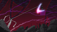Episode 51 - Asura holding Maka as he criticizes her