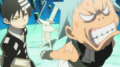 Soul Eater Episode 9 HD - Kid and Black Star annoyed with Excalibur