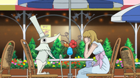 Soul Eater Episode 17 - Excalibur's cafe date with Cathy