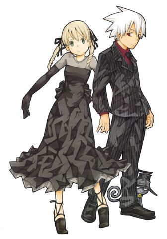 File:Maka and Soul in their Black Room attire.jpg