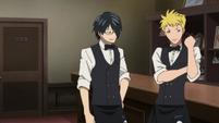 Akane ana Clay waiter outfits