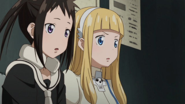 File:Soul Eater NOT Episode 10 HD - Anya and Tsugumi learn Sid is dead.png