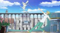 Soul Eater Episode 32 HD - Excalibur on Hero's balcony (2)