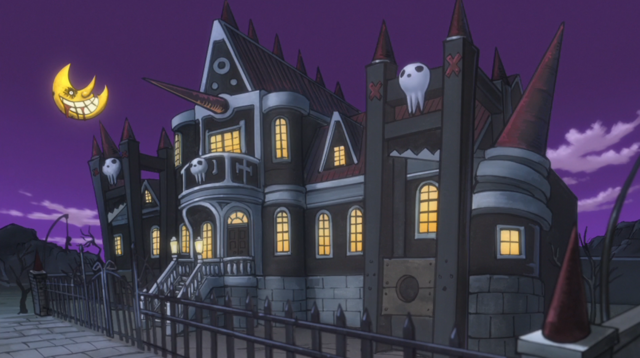 File:Soul Eater Episode 31 HD - Gallows Mansion at night 1.png