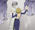 Soul Eater Episode 18 HD - Stein and Medusa dance (stitched)