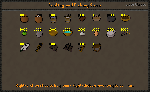 Cooking and Fishing Store