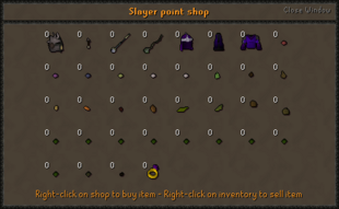 Slayer point shop