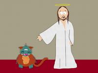 Jesus & God Lg