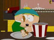 Cartman in the death of eric cartman eating chicken