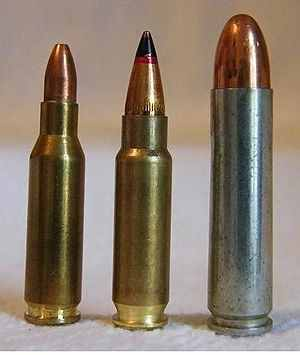 300px-4 6x30mm, 5 7x28mm, 30 M1 Carbine