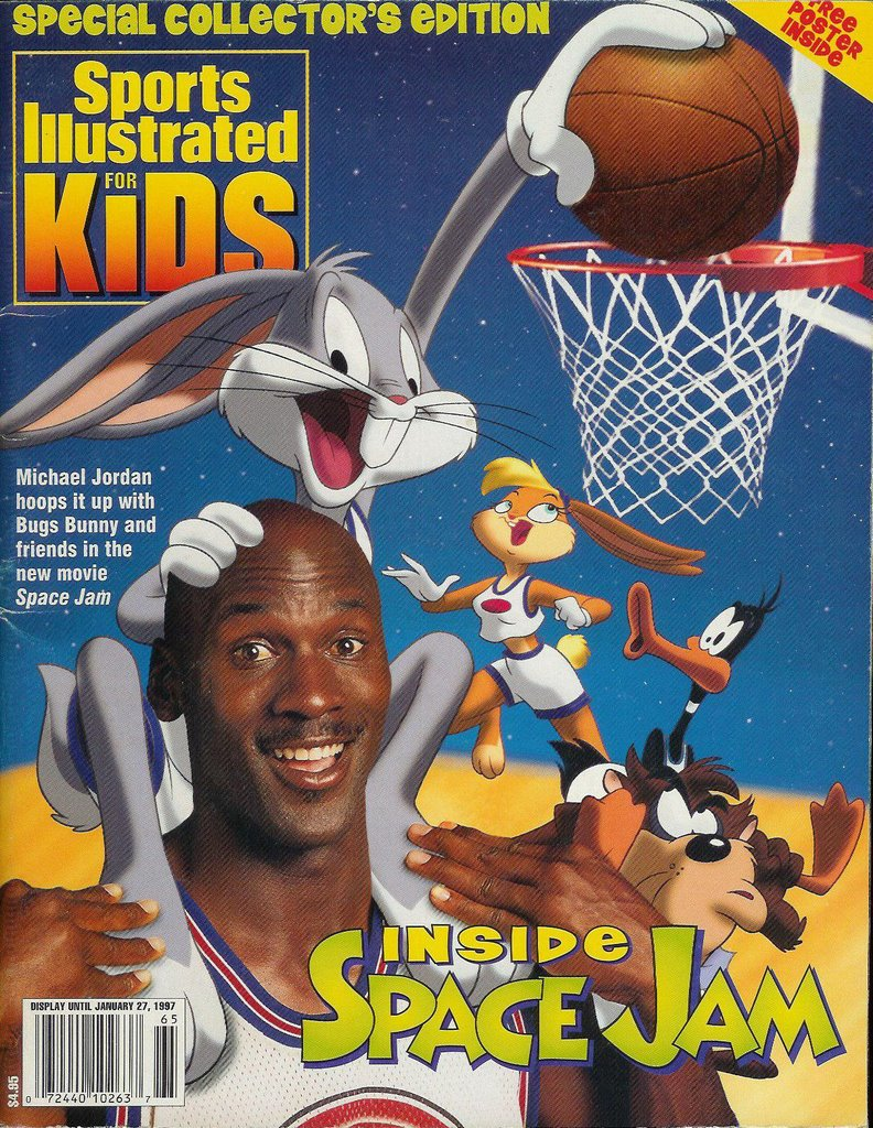 Sports Illustrated Cover Book : Sports illustrated for kids space jam wiki