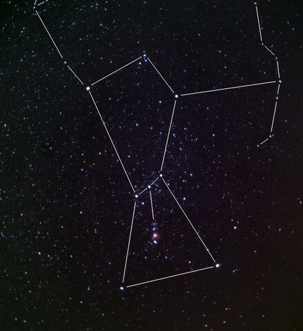 File:Shot of the constellation orion showing the belt and sword stars.jpg