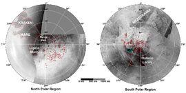 Titan 2009-01 ISS polar maps