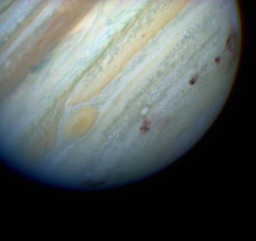 File:Jupiter showing SL9 impact sites.jpg