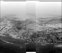 Huygens shoreline