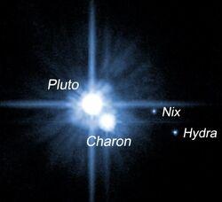 Pluto and its satellites (2005)