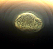 Vortex on saturn's moon titan