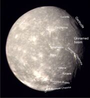 Titania (moon) labeled