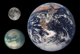 Titan Earth Moon Comparison