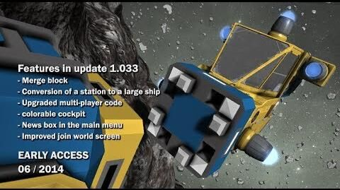 Space Engineers - Merge block, Conversion of station to ship, News box in main menu