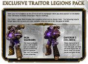 Traitor Legions Pack