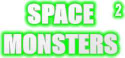 Space monsters 2 logo with shadow