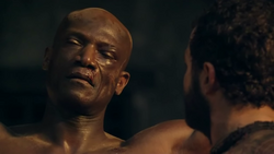 Oenomaus tortured by Ashur