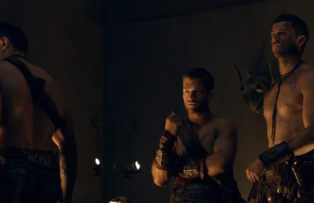 File:Spartacus, Agron, and Crixus-Vengence.png