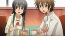 Tadashi and Hikari havign a coffee'