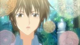 Kei slightly blushing
