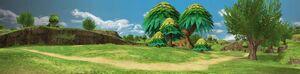 Sunny Grassland Panorama