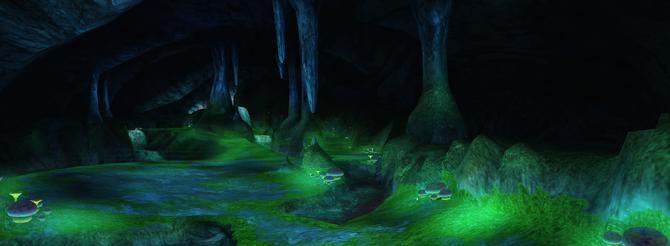 Glow Moss Cave Panorama