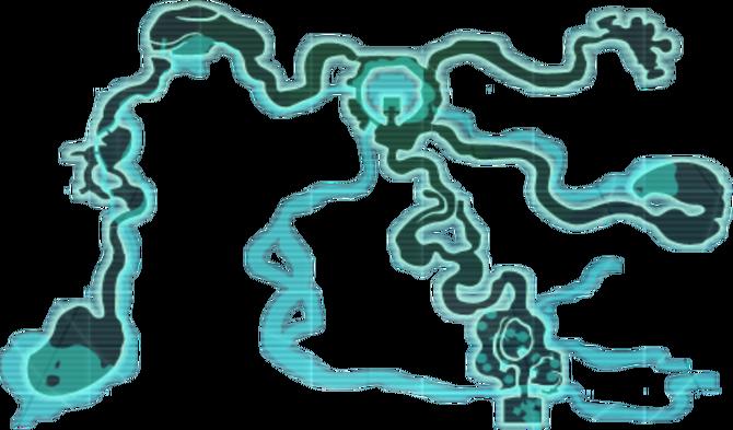 Map of Doldogo as it appears in Spectrobes: Origins.