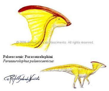 Palaeocaenic parasaurolophus by rsnature