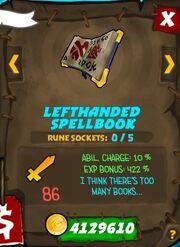 Lefthanded spellbook 35