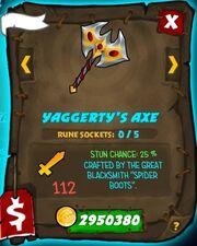 Yaggertys axe 30
