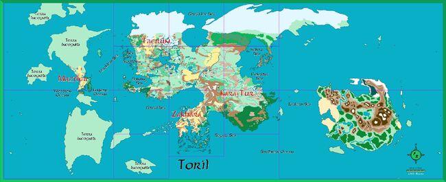 Map planet toril 2007