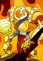Flaming Skeleton Warrior C